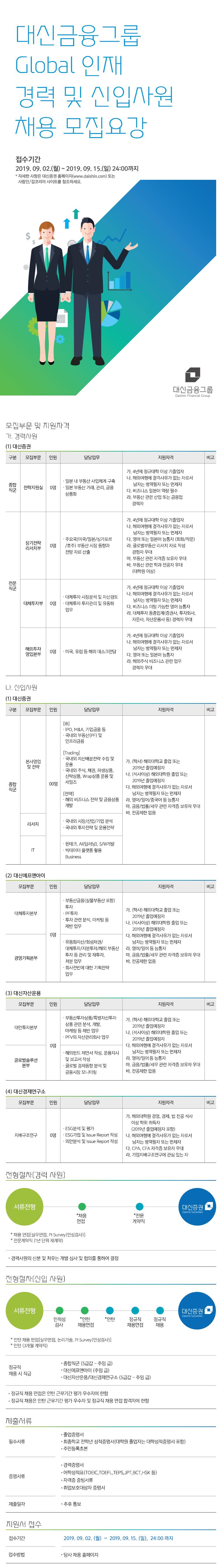 대신증권 대신금융그룹 Global 인재 경력 및 신입사원 채용