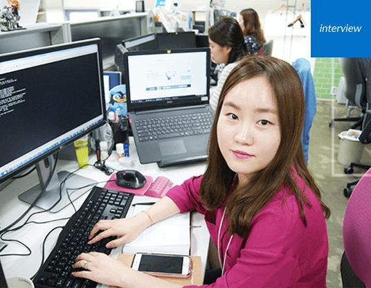 코리아센터 개발1팀 김지영 대리