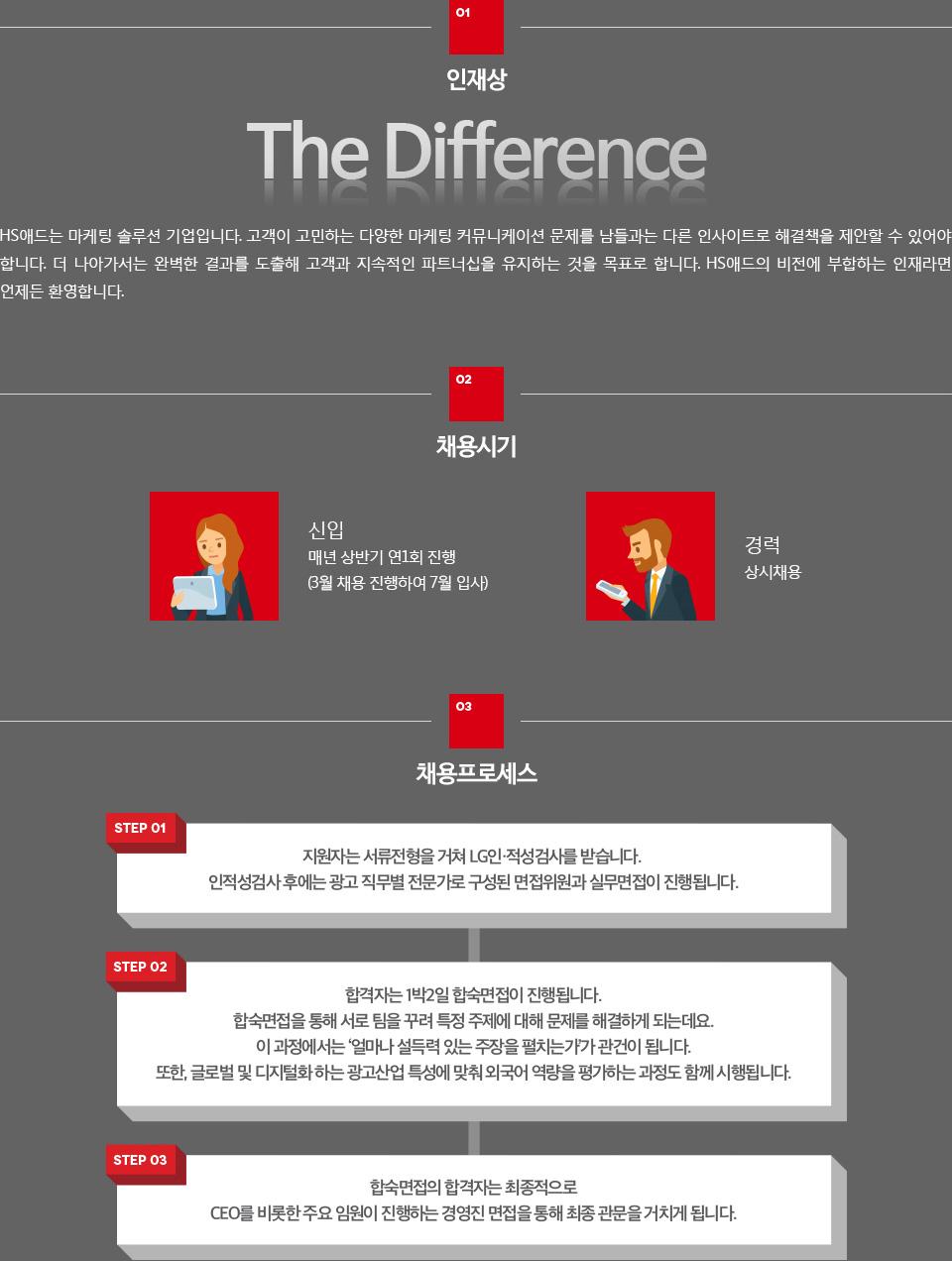 채용 정보 - 아래 설명 참조