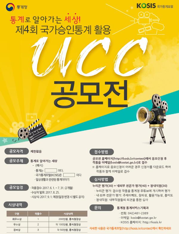 제4회 국가승인통계 활용 UCC 공모전
