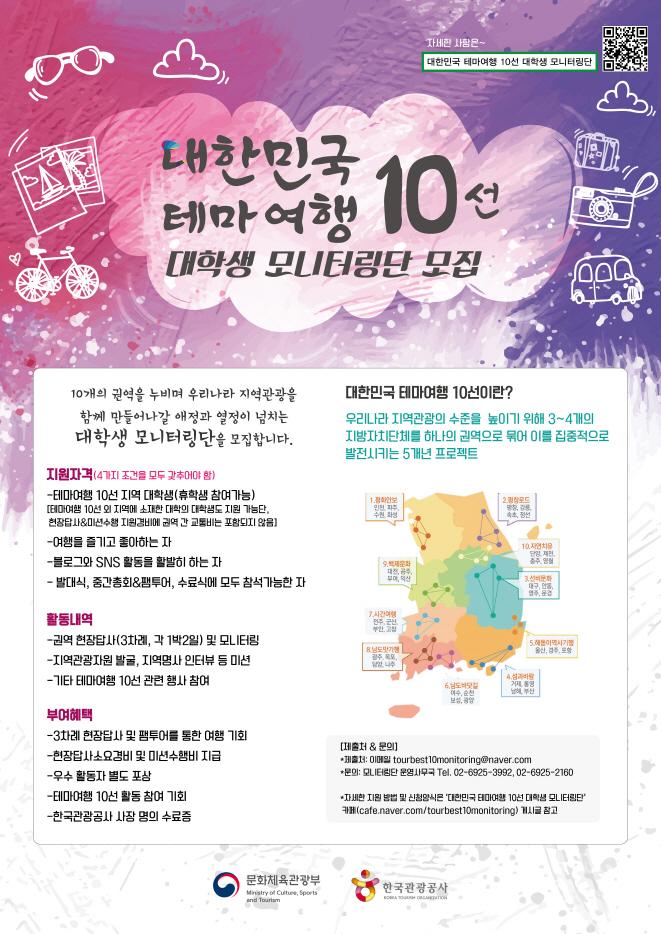 대한민국 테마 여행 10선 대학생 모니터링단