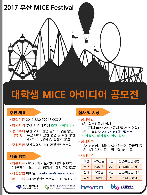 [제6회 부산 MICE FESTIVAL] 대학생 MICE 아이디어 공모전