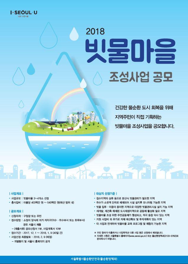2018년 빗물마을 조성사업 공모