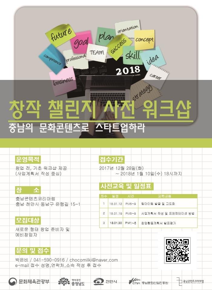 2018 창작 챌린지 사전 워크샵(상상 스타트)