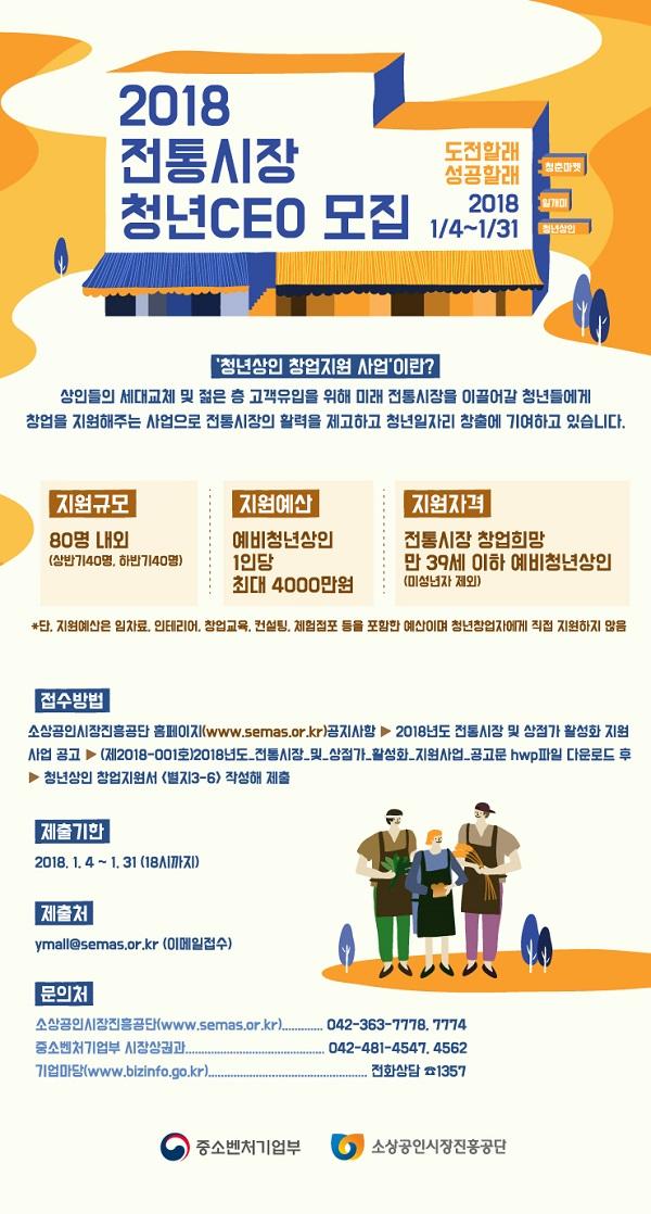 2018 전통시장 청년CEO 모집