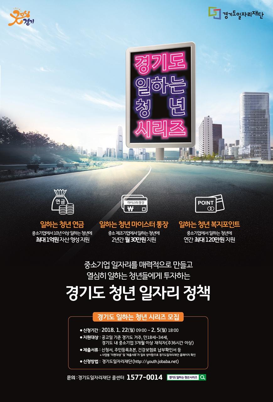 2018년 제1차 경기도 일하는 청년 시리즈 지원대상자 모집