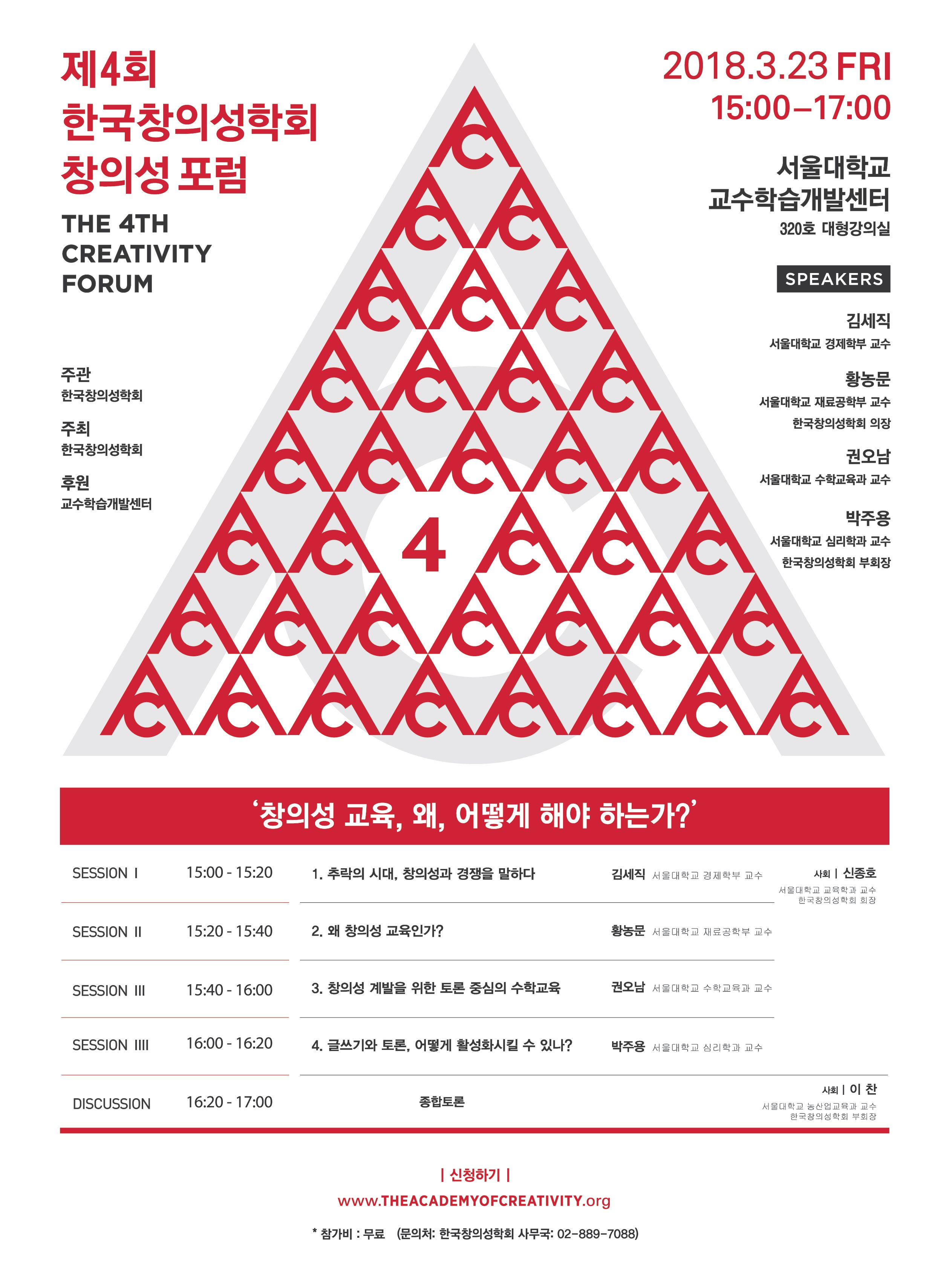 제4회 한국창의성학회 창의성 포럼