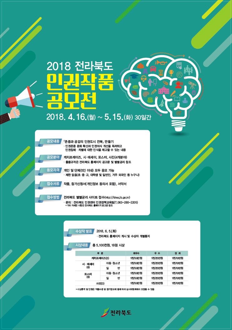 2018 전라북도 인권작품 공모전