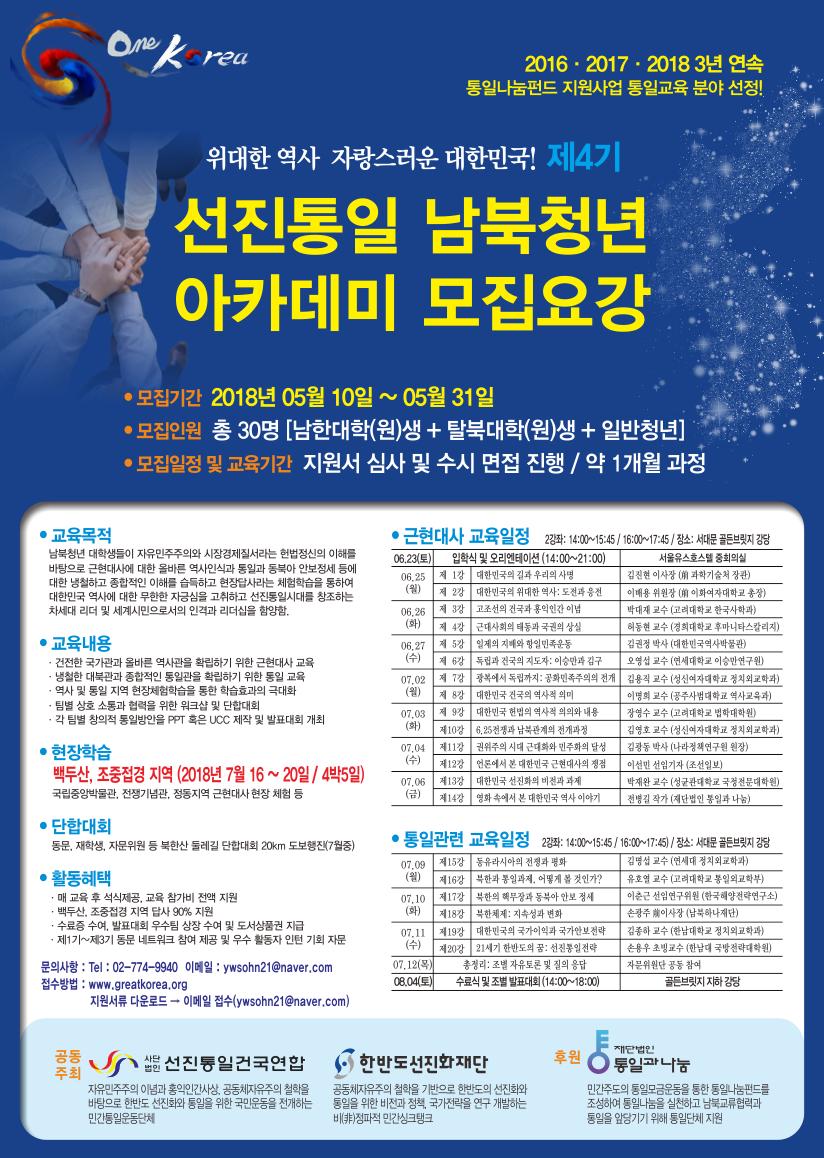 제4기 선진통일남북청년리더과정