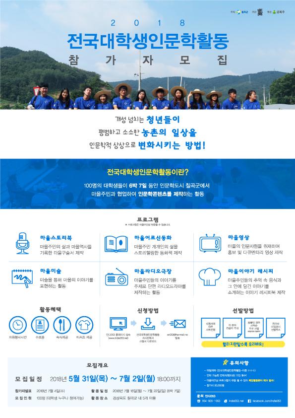 2018전국대학생인문학활동