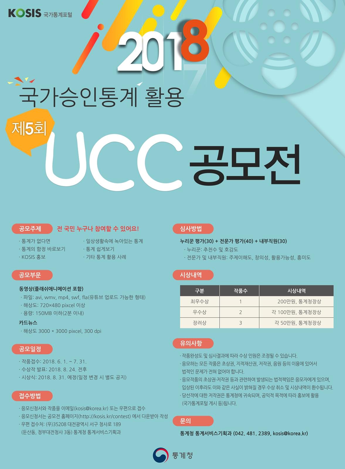 제5회 국가승인통계 활용 UCC 공모전