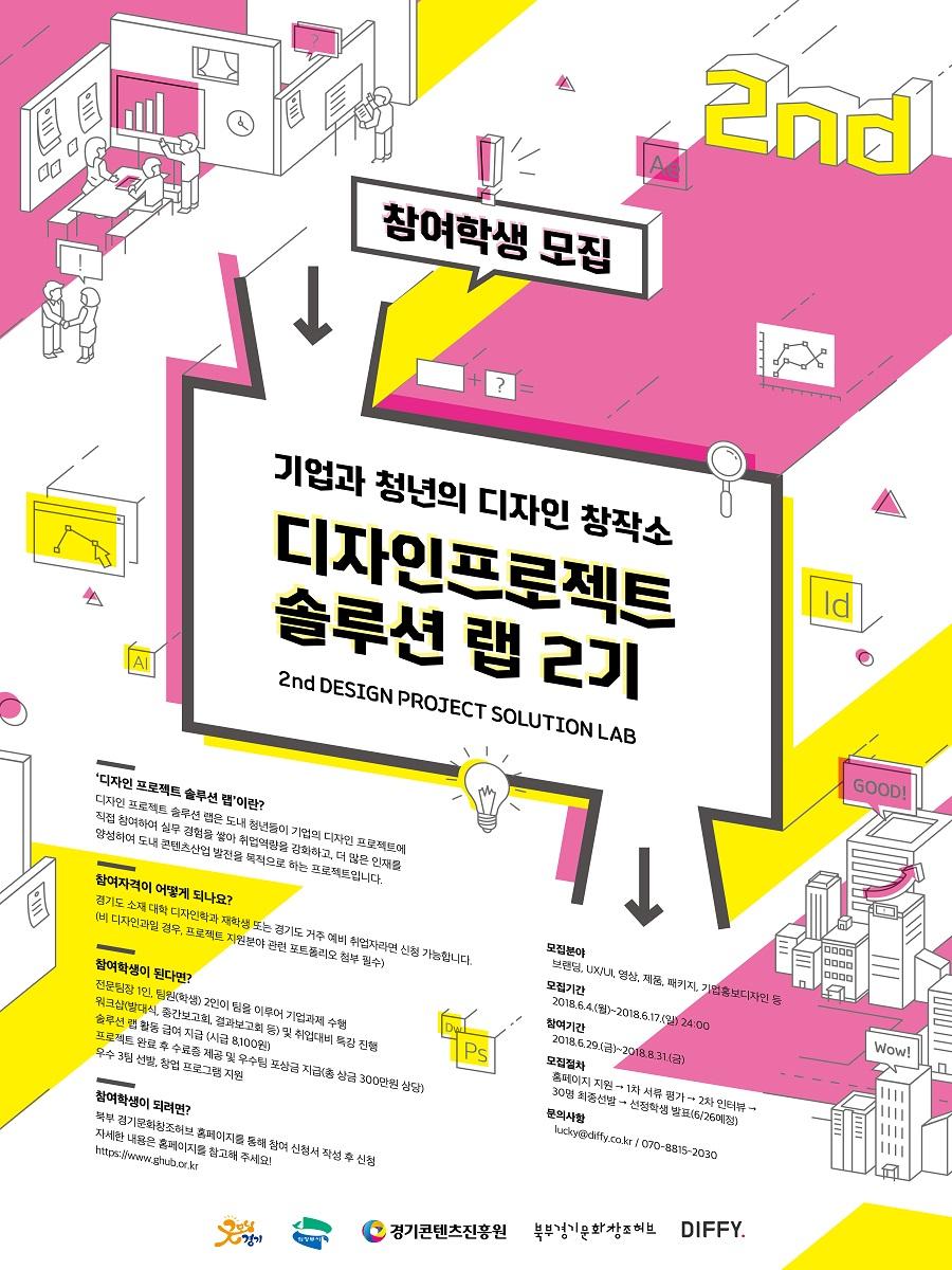 경기콘텐츠진흥원]디자인프로젝트 솔루션 랩 2기 참여 대학생/디자이너 모집(~6/17)