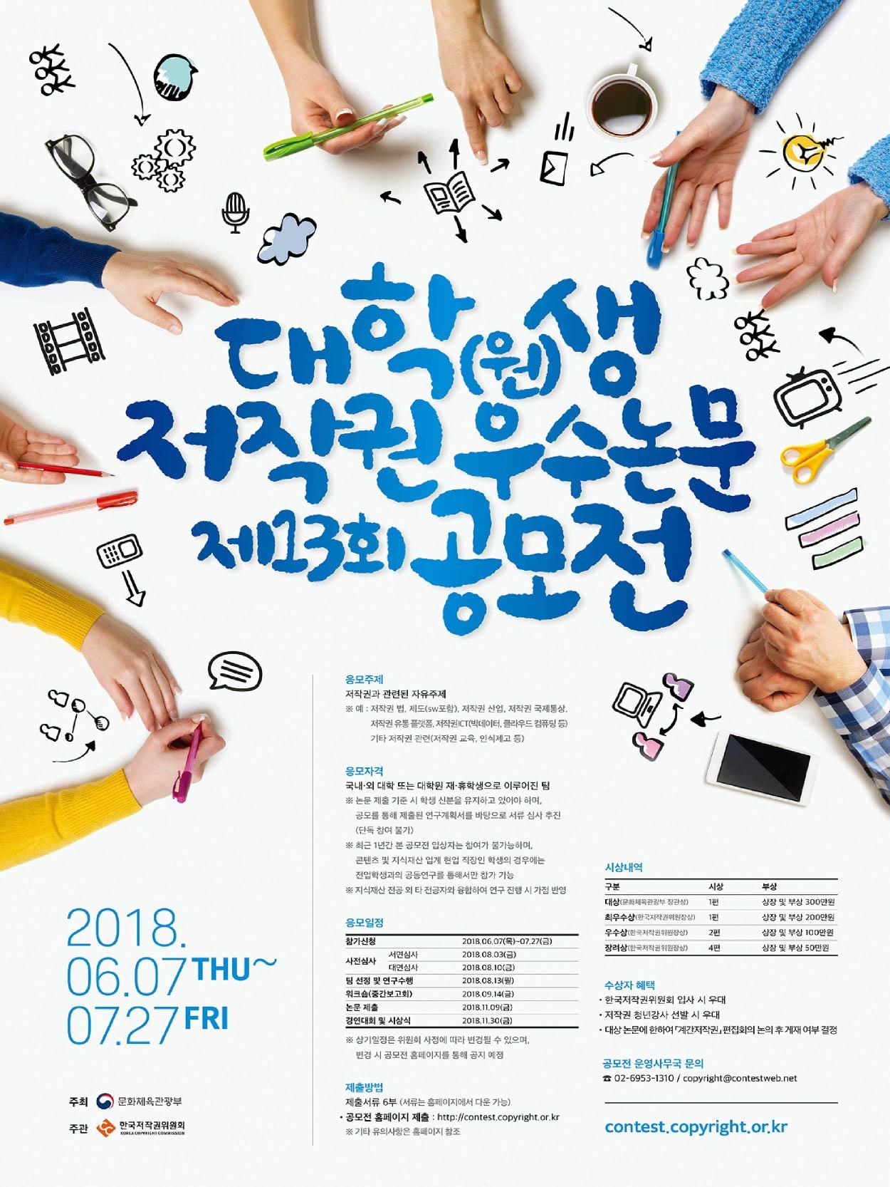 제 13회 대학(원)생 저작권 우수논문 공모전