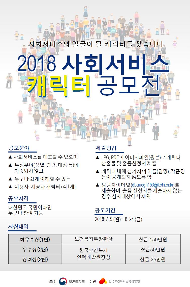 ★2018년 사회서비스 캐릭터 공모전★