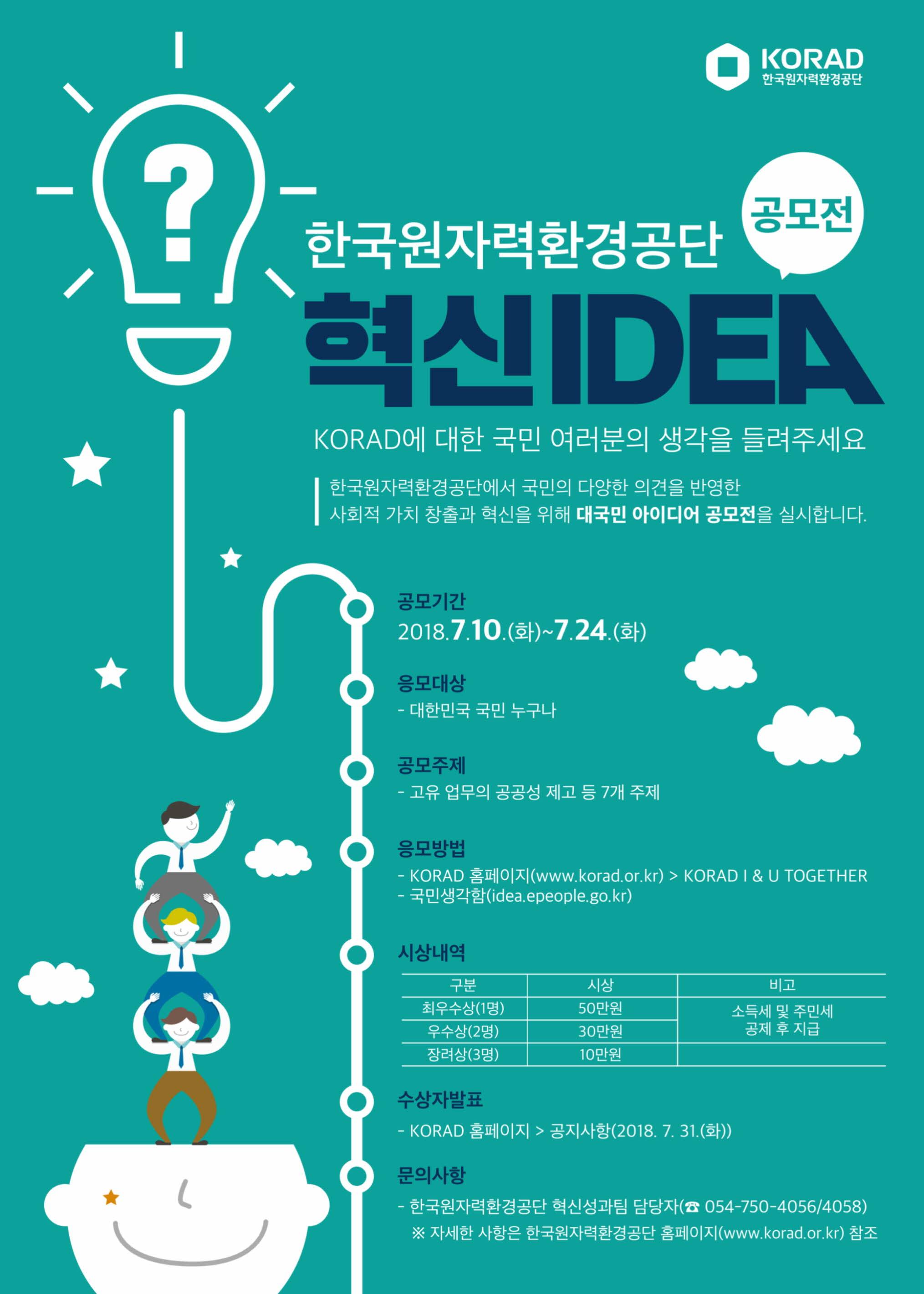 [한국원자력환경공단] 혁신아이디어 공모전