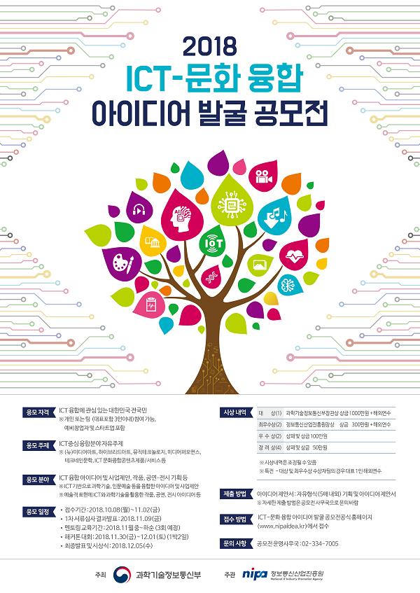 2018 ICT-문화 융합 아이디어 발굴  공모전