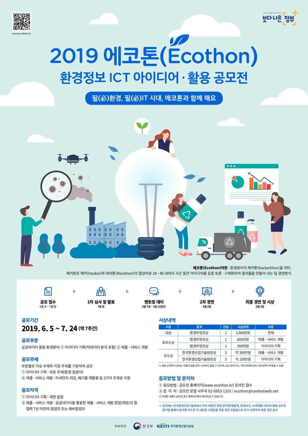 2019 에코톤 환경정보 ICT 아이디어·활용 공모전
