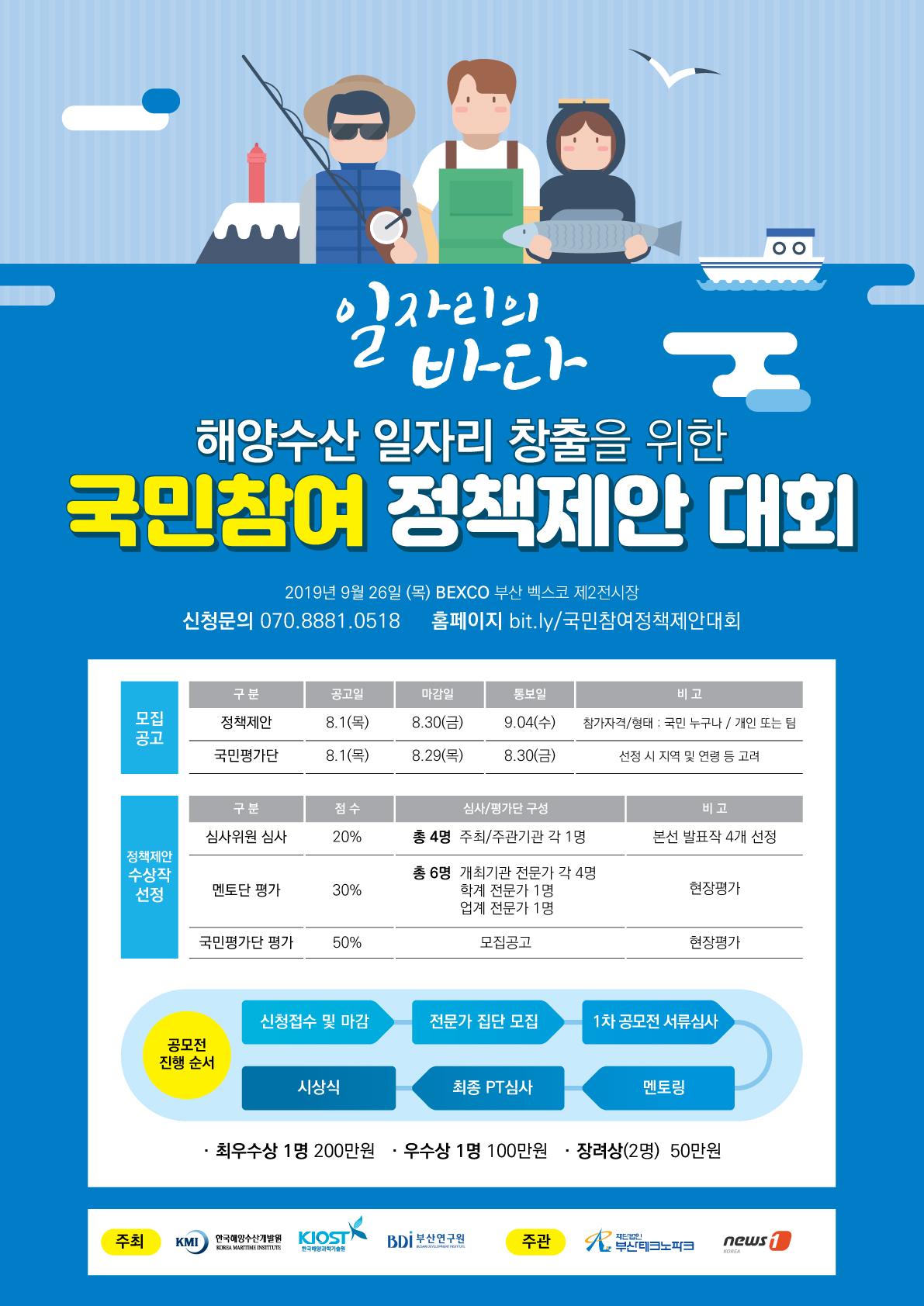 해양수산 일자리 창출을 위한 국민참여 정책제안 대회