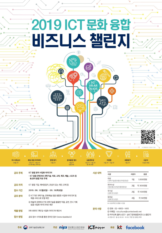 2019 ICT 문화 융합 비즈니스 챌린지 공모요강