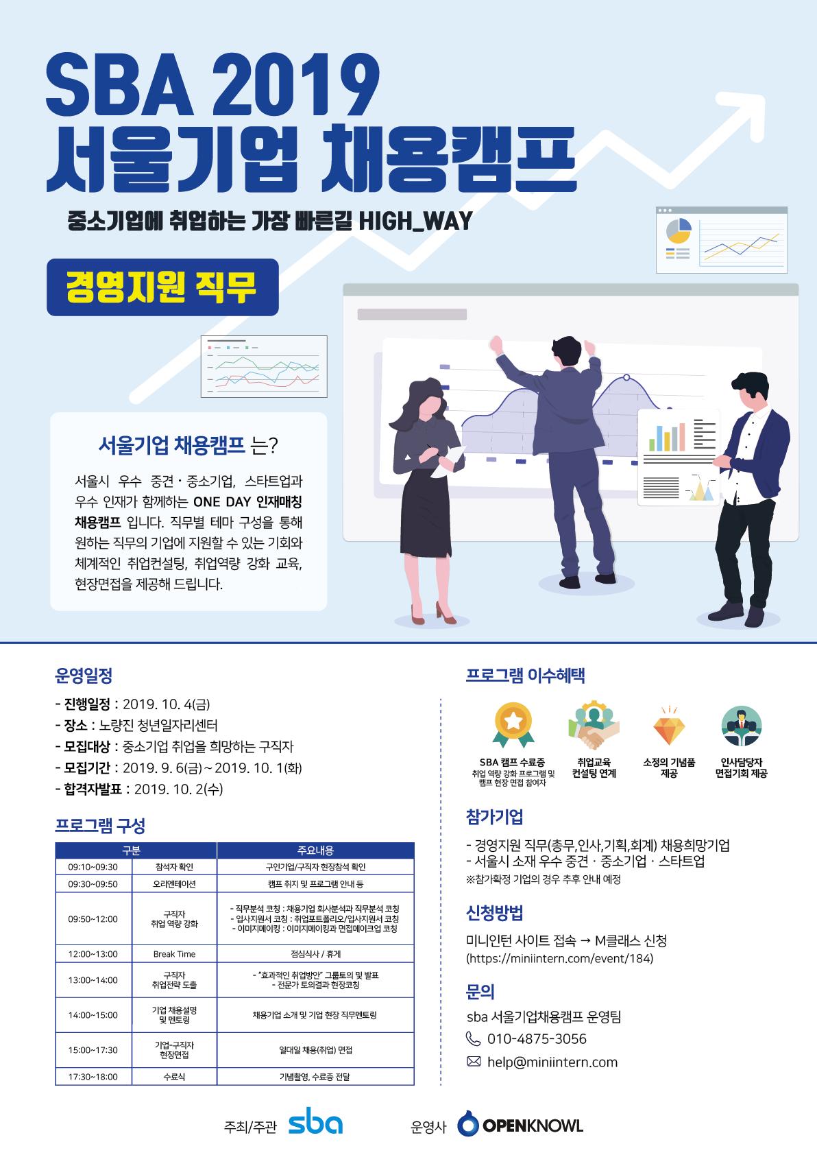 [서울산업진흥원] SBA 2019 서울기업 채용캠프(10.4)