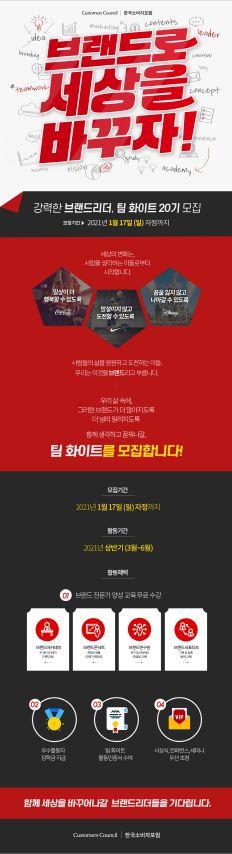 [한국소비자포럼] 팀 화이트 20기 모집 : 브랜드로 세상을 바꾸자 ! (~01.17)