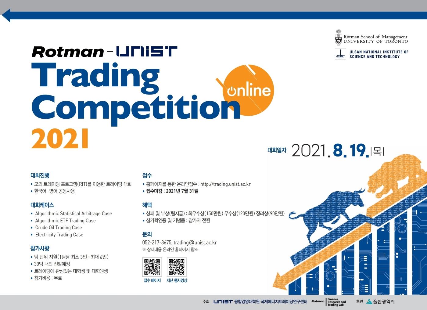 Rotman-UNIST 트레이딩 경진대회 2021