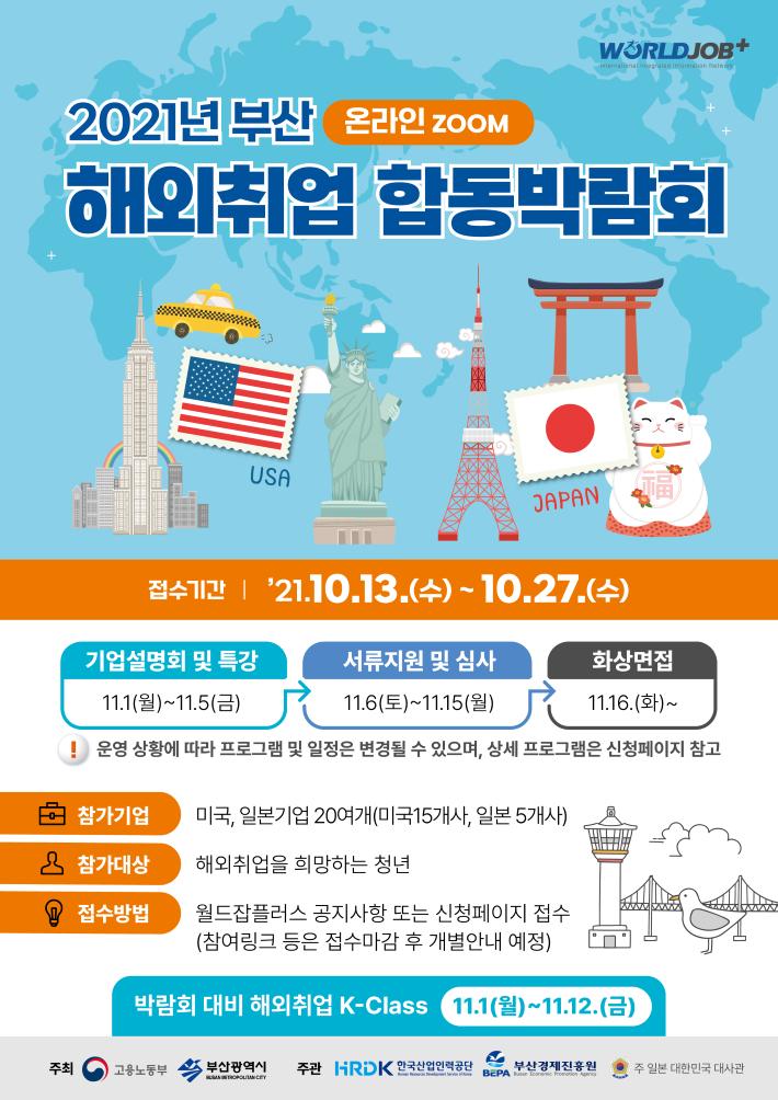 2021년 부산 해외취업 합동박람회